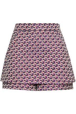 MAJE Layered jacquard shorts