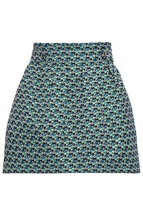 MAJE Layered brocade shorts