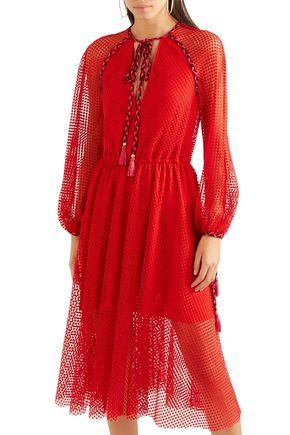 PHILOSOPHY di LORENZO SERAFINI Macramé lace midi dress