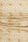 REBECCA VALLANCE Metallic guipure lace midi dress