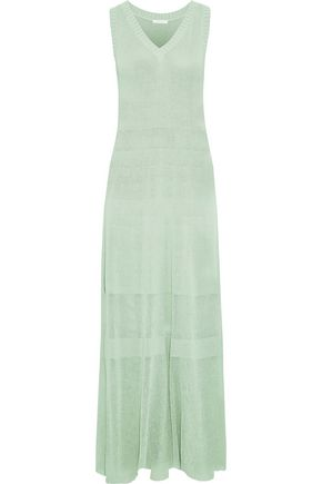 SEE BY CHLOÉ Open-knit cotton maxi dress