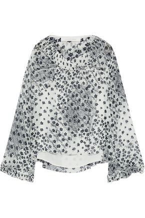 SEE BY CHLOÉ Pleated floral-print georgette blouse