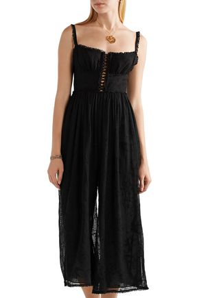 ZIMMERMANN Corsair Iris lace-up broderie anglaise silk jumpsuit