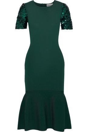 SACHIN & BABI Misha fluted sequin-embellished stretch-knit dress