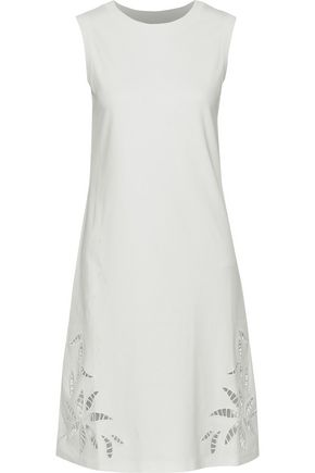 SEE BY CHLOÉ Broderie anglaise-trimmed cotton-jersey dress