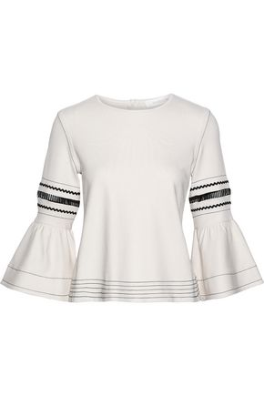 SEE BY CHLOÉ Rickrack-trimmed cotton-jersey top