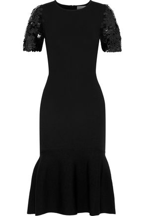 Misha Fluted Sequin Embellished Stretch Knit Dress by Sachin & Babi