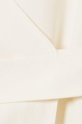 THEORY Rosina crepe wrap top