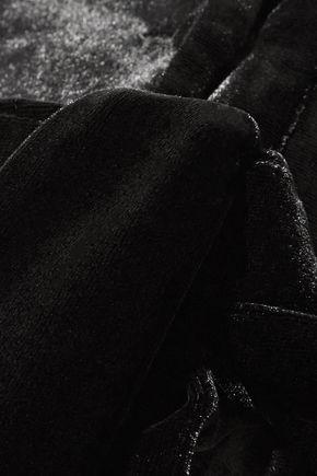 MICHAEL LO SORDO Belted velvet top