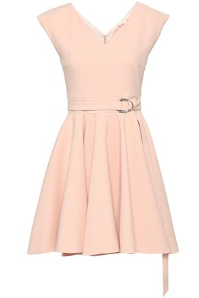 MAJE Rimea belted stretch-crepe mini dress
