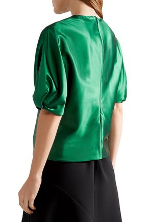 ROSETTA GETTY Satin-crepe top