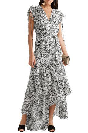 5e7395228e93 VERONICA BEARD Samara layered ruched floral-print silk-georgette maxi dress