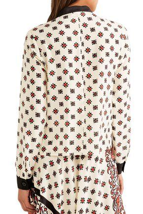 REDValentino Printed silk crepe de chine top