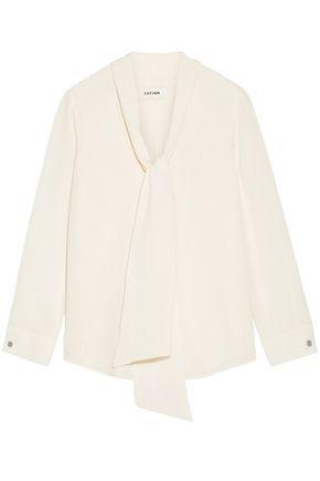 CEFINN Pussy-bow gauze blouse