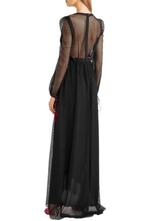 PHILOSOPHY di LORENZO SERAFINI Macramé maxi dress