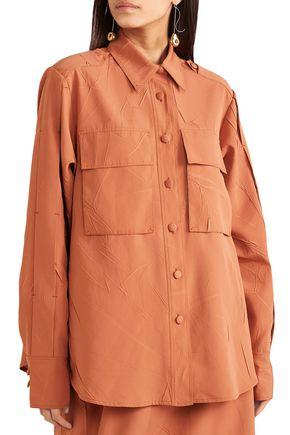 JOSEPH Oversized crinkled crepe shirt