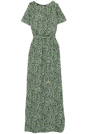 2e22200529f8 MICHAEL MICHAEL KORS Cold-shoulder printed stretch-jersey maxi dress