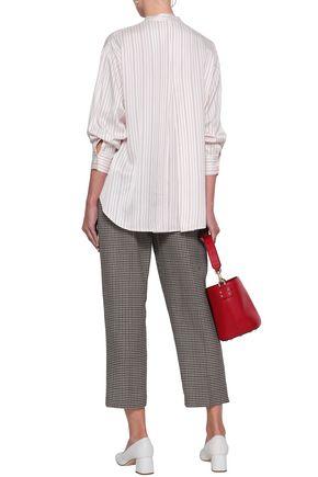 MAJE Coquelico striped poplin shirt