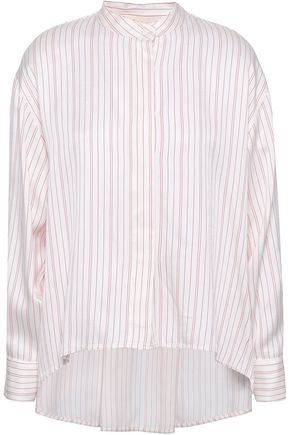 MAJE Coquelico striped poplin shirt