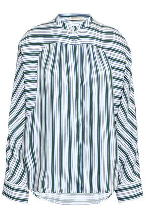 MAJE Striped twill shirt