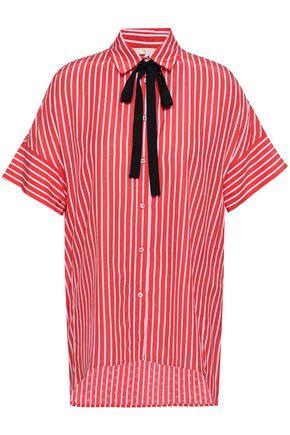MAJE Striped jacquard shirt