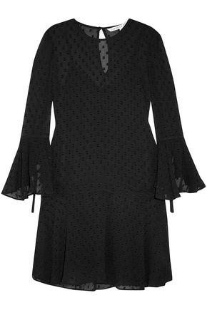 VERONICA BEARD Emerson fil coupé silk-blend mini dress
