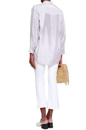 MAJE Striped woven shirt