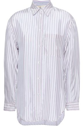 MAJE Striped woven shirt