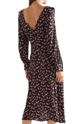 PAUL & JOE Hyrma floral-print crepe midi dress