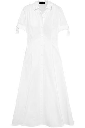 THEORY Stretch-cotton midi shirt dress