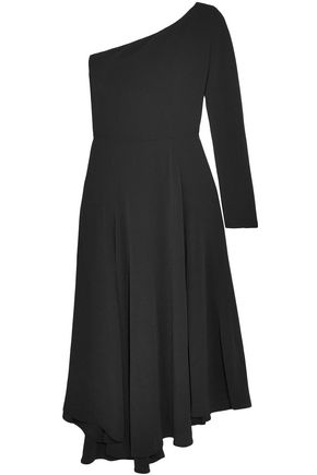 VANESSA BRUNO Hestia one-shoulder asymmetric crepe midi dress