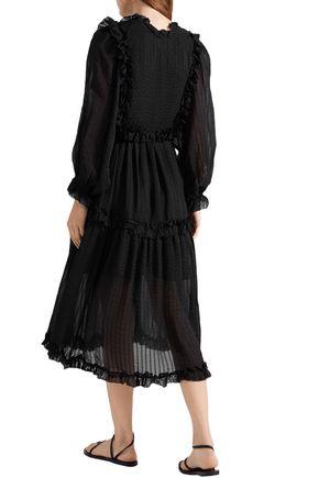 ZIMMERMANN Ruffle-trimmed silk-voile midi dress