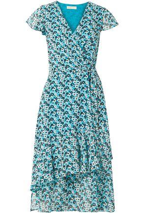 MICHAEL MICHAEL KORS Floral-print crepe wrap dress