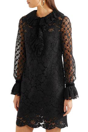 PHILOSOPHY di LORENZO SERAFINI Cotton-blend corded lace mini dress
