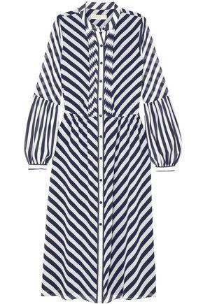 MICHAEL MICHAEL KORS Striped crepe midi dress