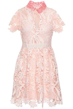 MAJE Macramé mini dress