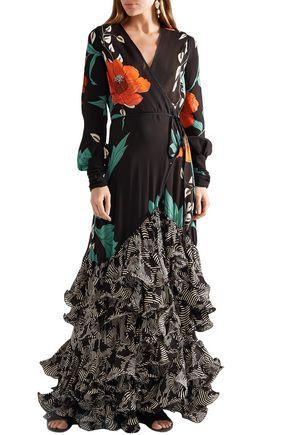JOHANNA ORTIZ Ruffled floral-print silk-chiffon maxi dress