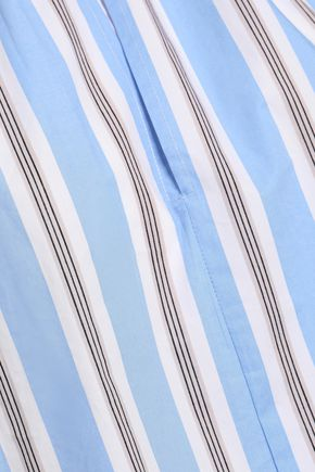 MAJE Striped cotton-poplin shirt