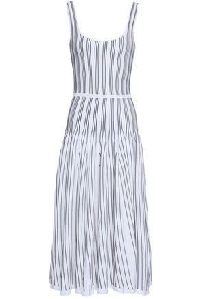 CUSHNIE ET OCHS Pleated intarsia-knit midi dress