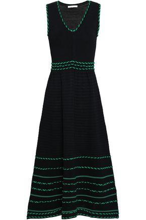 MAJE Romaine stretch-knit midi dress