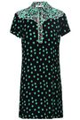 MAJE Printed crepe mini dress