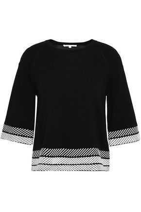 MAJE Stretch-knit top