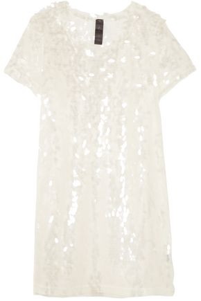 NORMA KAMALI Sequined tulle mini dress