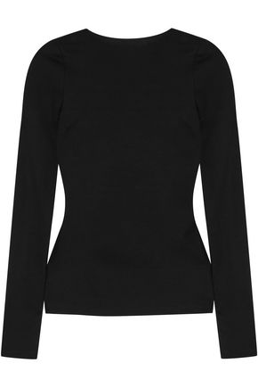 ROSETTA GETTY Open-back stretch-jersey top