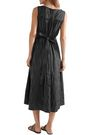 CO Striped crinkled cotton-blend midi dress