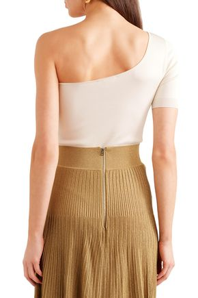 CASASOLA One-shoulder stretch-knit bodysuit