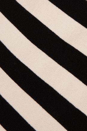 KHAITE Striped wool-blend bodysuit