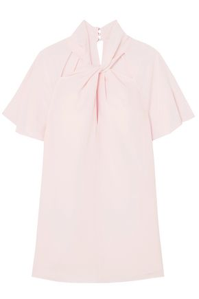 TEMPERLEY LONDON Purity cutout twist-front silk crepe de chine top