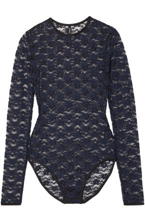 MICHAEL LO SORDO Stretch-lace bodysuit