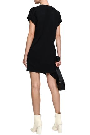 3.1 PHILLIP LIM Draped silk-crepe and cotton-jersey mini dress